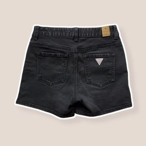 GUESS Washed out Black Jean Shorts